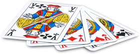 Belote playing cards